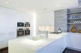 kitchen cabinets new york city white quartz countertops with white high gloss cabinets home