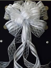 decorative bows white pew bow wedding decor argyle satin white wedding pew bow white