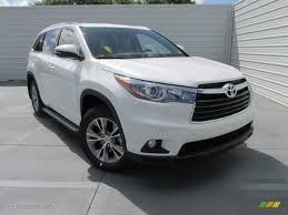 toyota highlander 2015 2015 blizzard pearl white toyota highlander xle 105514499 photo