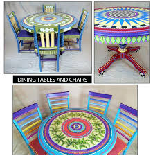 hand painted mexican dining table hand painted pedestal dining