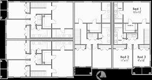 corner lot four plex house plan f 577