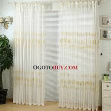 exquisite embroidered leaf pattern white linen sheer curtain buy