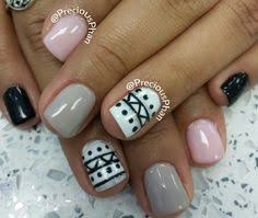 pink glitter aztec nails cute nail designs pinterest