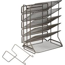 Desk Letter Organizer Seville Classics 6 Tray Iron Mesh Letter A4 Office Vertical