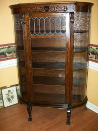 Entry Cabinet Curio Cabinet Oakurioabinets For Sale Item Amazing