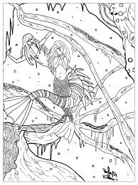 free fairy tales coloring pages adults mermaid