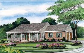 one level house plans with porch affordable single house plans