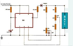 charger circuit diagram using ic 555