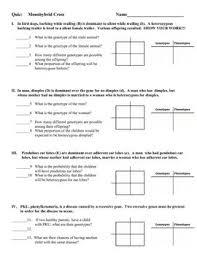 Dihybrid Cross Punnett Square Worksheet Printables Genetics Worksheet Whelper Worksheets Printables