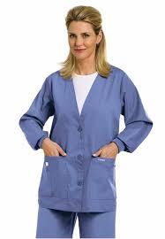 scrub jacket s cardigan warm up landau 7535 central uniforms