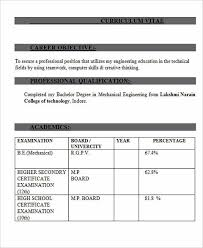 Resume For Mechanical Fresher 100 Mechanical Resume Best Diesel Mechanic Resume Example