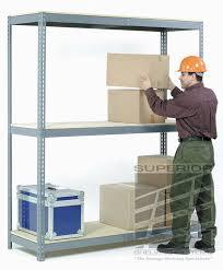 Heavy Duty Shelves by Heavy Duty Double Rivet Industrial Steel Racking
