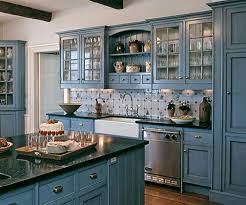 Custom Painted Kitchen Cabinets Blue Milk Paint Kitchen Custom Blue Painted Kitchen Cabinets