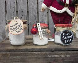 faux snow in a jar ornaments hometalk