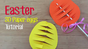 paper easter eggs how to make easter 3d paper egg