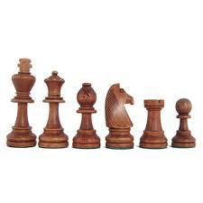 3 3 4 u0027 u0027 stained beech standard staunton chess pieces w storage box