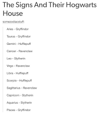 Harry Potter House Meme - 21 times tumblr figured out the zodiac signs smosh
