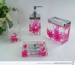 Acrylic Bathroom Accessories 15 Chic Pink Bathroom Accessories Set Home Design Lover