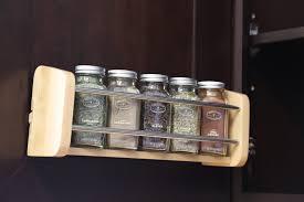 decorating astounding kitchen cabinet door spice racks for adorable natural wood door mount spice racks for