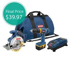 Ryobi Bench Grinder Price Save 70 On A Ryobi Drill And Saw Combo Kit The Krazy Coupon Lady