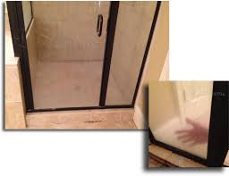 removing water stains and etching on shower glass in florida