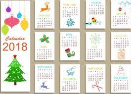 Calendar 2018 Ai Template 2018 Calendar Vector Free Vector 1 490 Free Vector For