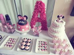 minnie mouse baby shower ideas minnie mouse baby shower pink dessert table kids birthday party