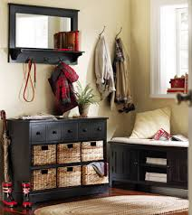 Entryway Table With Baskets Cortland Storage Unit W Baskets For Mudroom Organization In