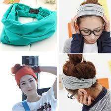 wide headband new variety of wear method cotton elastic sports headbands wide
