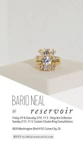 custom cluster v shaped ring bario neal platform platform