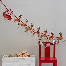 christmas bunting and garlands notonthehighstreet com
