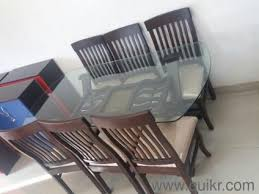 Wooden Top Dining Table With  Chairs Brand Home Office - Glass top dining table hyderabad