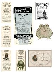 Free Printable Halloween Potion Labels by Vintage Style Potion Labels By Pureblackmagik On Deviantart