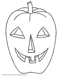 halloween pumpkin coloring pages big evil halloween pumpkin