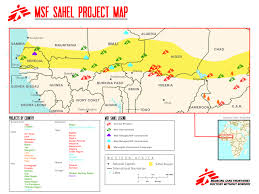 sahel desert map msf battles malnutrition and disease across a swathe of and