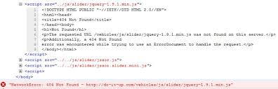 erro 404 no encontrado geapcombr javascript network error 404 not found