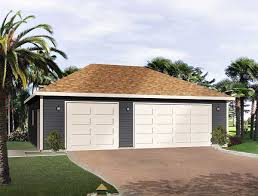 hip roof 3 car drive thru garage 22053sl architectural designs