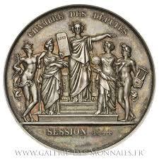 chambre des deputes louis philippe ier 1830 1848 médaille de la chambre des députés