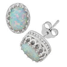 opal stud earrings opal stud earrings 25 for clearance jcpenney