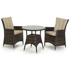 Garden Bistro Table Rattan Garden Bistro Table And 2 Chairs