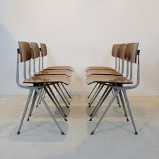 set of six result industrial diner chairs by friso kramer for