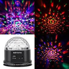 mini disco ball light uk plug crystal magic disco ball led night lights actived rgb mini