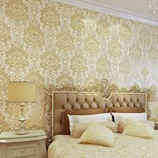 luxury 3d damask wallpaper silver grey tv background wall