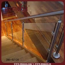easy install stair hand railing stair rail hardware glass panel
