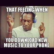 Kid On Phone Meme - downloading new music to your phone bill cosby meme lol made me