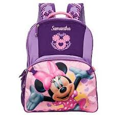 disneystore personalized minnie mouse backpack polyvore