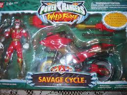 power rangers wild force savage cycle red ranger nib op red lion