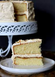 yellow cake with caramel buttercream