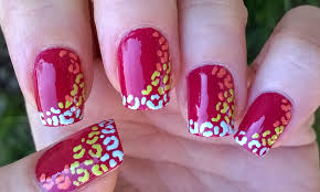 life world women colorful leopard nails toothpick nail art