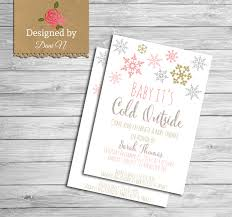 baby shower invite pink gold and silver party invitation